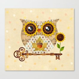 Owl's Autumn Song Canvas Print