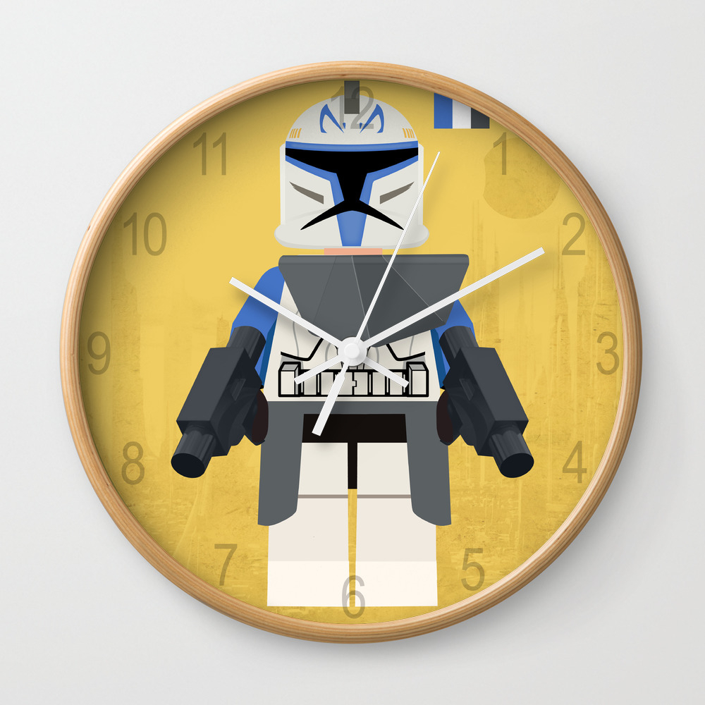 Star.wars Captain Rex, Lego.styled Mini Figure, Bo… Wall Clock by Houseofprints CLK7930154