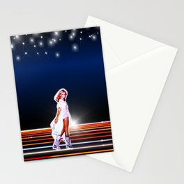Olivia Newton-John - Xanadu movie 80s  by retropopdisco Stationery Cards
