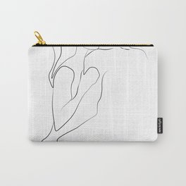 Lovers - Minimal Line Drawing Art Print3 Carry-All Pouch