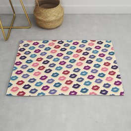 Retro Lips - Colorful Pattern Rug