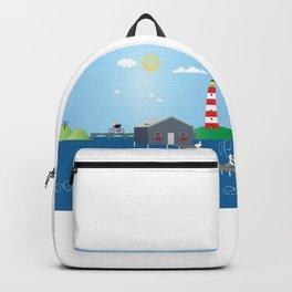 Home in Sea  Backpack