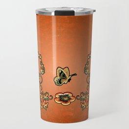 Decorative design, butterflies Travel Mug