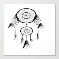 dream catcher Canvas Prints featuring DREAM CATCHER by shannon's art space