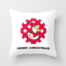 Merry Christmas Duck Throw Pillow