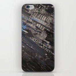 collage black and blue iPhone Skin