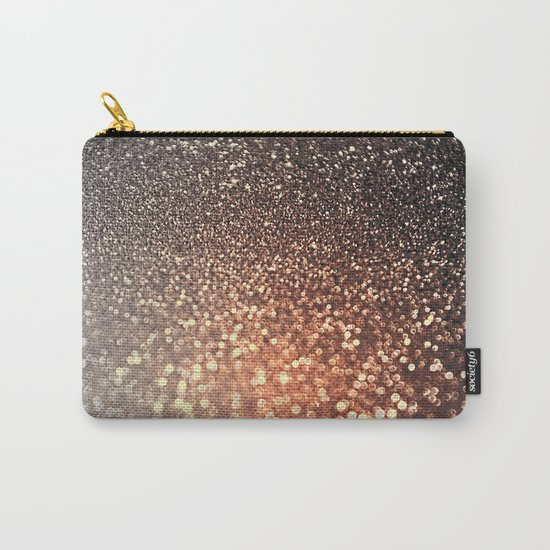 Tortilla brown Glitter effect - Sparkle and Glamour on #Society6 Carry-All Pouch
