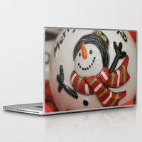 globe Laptop & iPad Skins featuring Frosty Globe by IowaShots