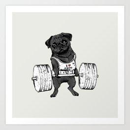 Black Pug Lift Art Print
