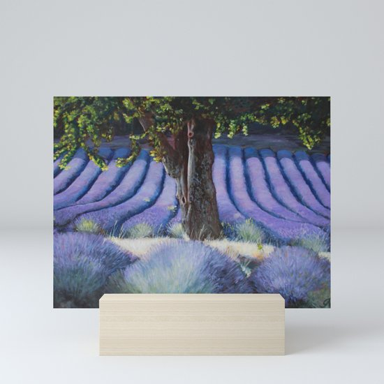 Lavender Field with Apple Tree by gabiniart