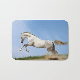 WHITE HORSE Bath Mat