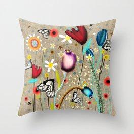 Rupydetequila - Bohemian Paradise Throw Pillow