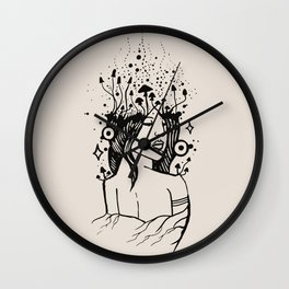 Queen of Spores Wall Clock