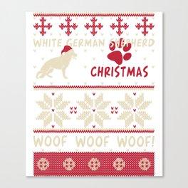White German Shepherd christmas gift t-shirt for dog lovers Canvas Print