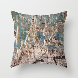 Scratched Surface Throw Pillow