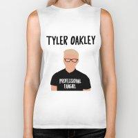 fangirl Biker Tanks featuring Professional Fangirl by BethTheKilljoy