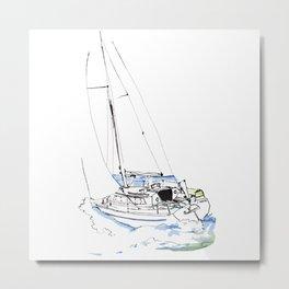 Cirrus/ Sailingboat Metal Print