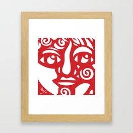 Cara Roja Framed Art Print