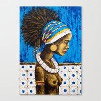 cuba Canvas Prints featuring CUBA  by Olga Krokhicheva
