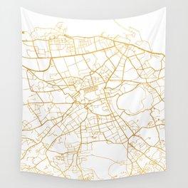 EDINBURGH SCOTLAND CITY STREET MAP ART Wall Tapestry