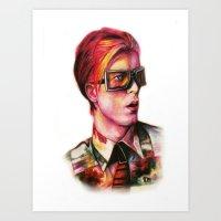 Bowie Watercolor Art Print
