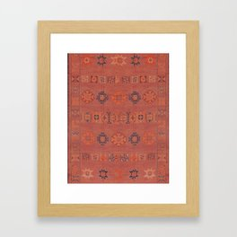 Heritage Moroccan Berber Design  Framed Art Print