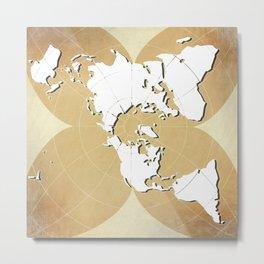 planisphere golden mood Metal Print