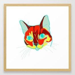 justin bobby the cat portrait Framed Art Print