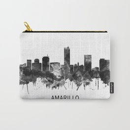 Amarillo Texas Skyline BW Carry-All Pouch