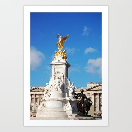 Queen Victoria's Statue 3 Art Print