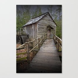The John Cable Gristmill in Cade's Cove Canvas Print