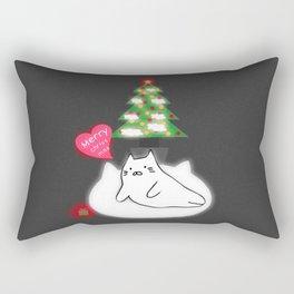 Merry Christmas cat 89 Rectangular Pillow