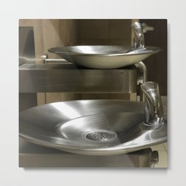Water Fountains Aren't Segregated, Anymore: Why Are PEOPLE? Metal Print