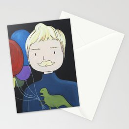 Man With A Dinosaur Stationery Cards