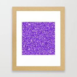Hot purple white modern abstract pattern Framed Art Print