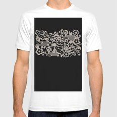 Negative Flower White MEDIUM Mens Fitted Tee