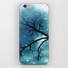 Surreal Aqua Blue Tree Branches Haunting Nature Raven Decor iPhone & iPod Skin