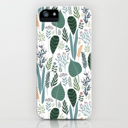 Early Spring Thaw In The Flower Garden Pattern iPhone Case