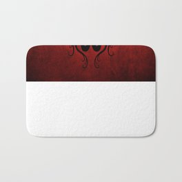 Black and Red Twin Tribal Dragons Bath Mat