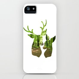 Forest Deer and Buck iPhone Case