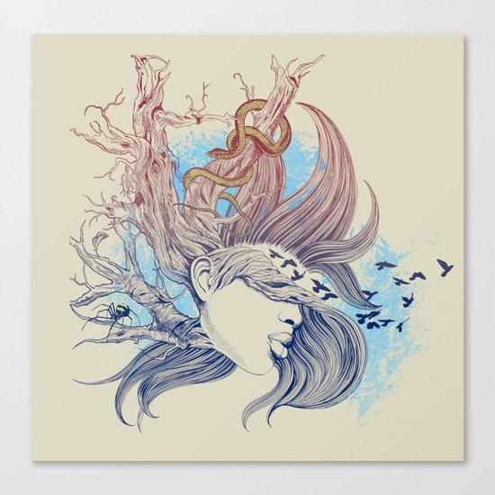 Tree Girl Canvas Print