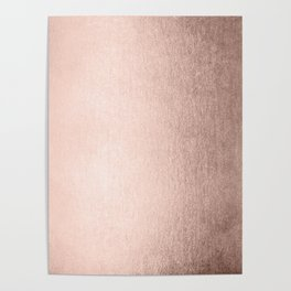 Moon Dust Rose Gold Poster