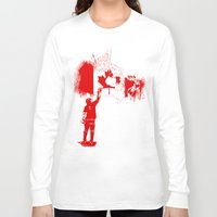 canada Long Sleeve T-shirts featuring Canada Tagger by Kris alan apparel