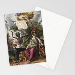 Raphael's Prophetic Almanack: a funeral, war, and riotous assembly (1838) Stationery Cards