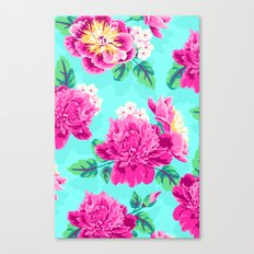 Bright Flowers Pretty Peonies Canvas Print