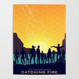 Catching Fire (Sunset Version) Poster