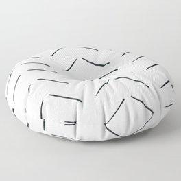 MOD_BrokenArrowsLight_Charcoal Floor Pillow