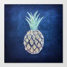 Chalk Pineapple Canvas Print