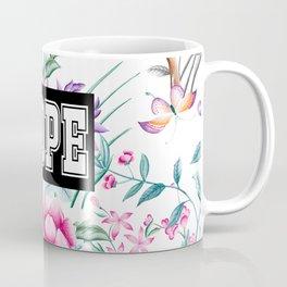 NOPE - white floral pattern Coffee Mug