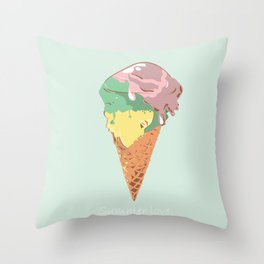 Summer kiss Throw Pillow